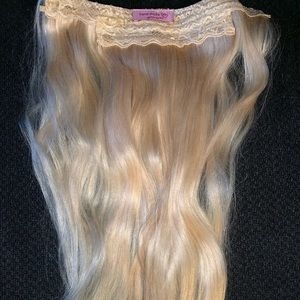 """Human hair Halo style 18"""" extensions"""